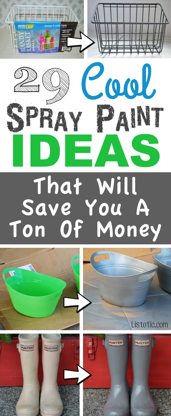 13 cool spray paint ideas that will save you a ton of money popcane page 10 - Fun diy home decor ideas ...