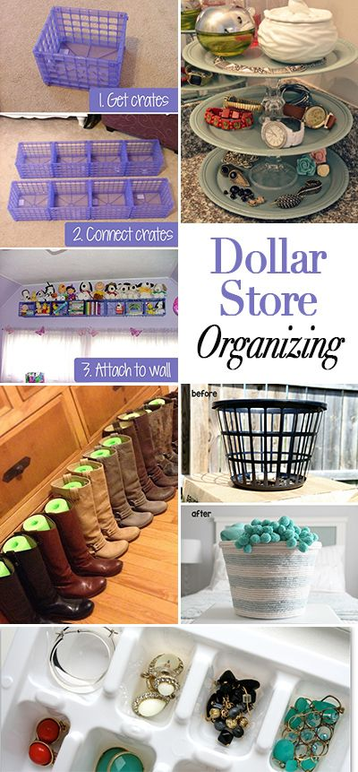 Dollar store organizing ideas popcane for Cheap house stuff